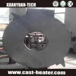 Round aluminium casting heating plate