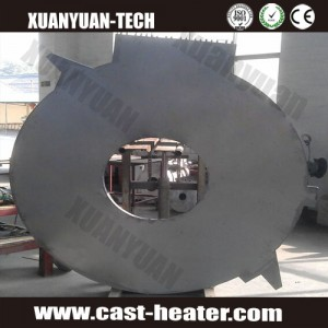Cast aluminium welding heating plate