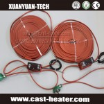Flexible silicone rubber tape heater