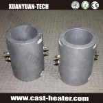Liquid cooled cast in band heaters