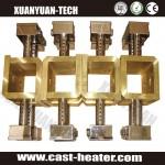 Cast-in copper plate heaters