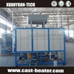 Dying industrial 380V 30KW electrical vertical thermal oil heater